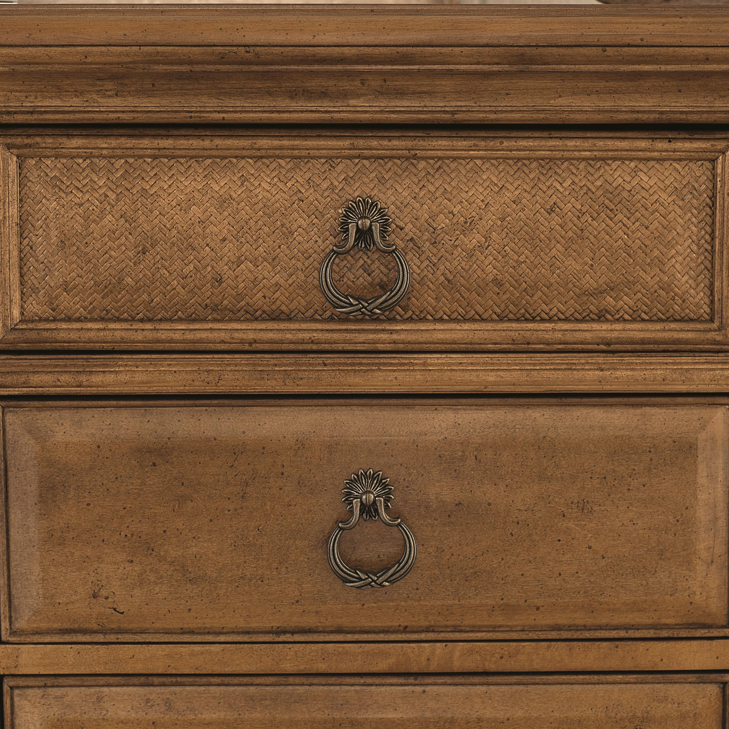 American Drew Grand Isle 3-Drawer Nightstand with Carved u0026 Fluted Accents u0026 Custom Made Hardware ...