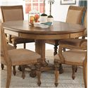 American Drew Grand Isle 7-Piece Island-Inspired Single Pedestal Table & Dining Arm/Side Chairs with Upholstered Cushion Seats & Backs Set - Pedestal Table