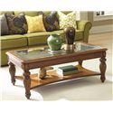 American Drew Grand Isle Rectangular Cocktail Table with 1 Lower Shelf
