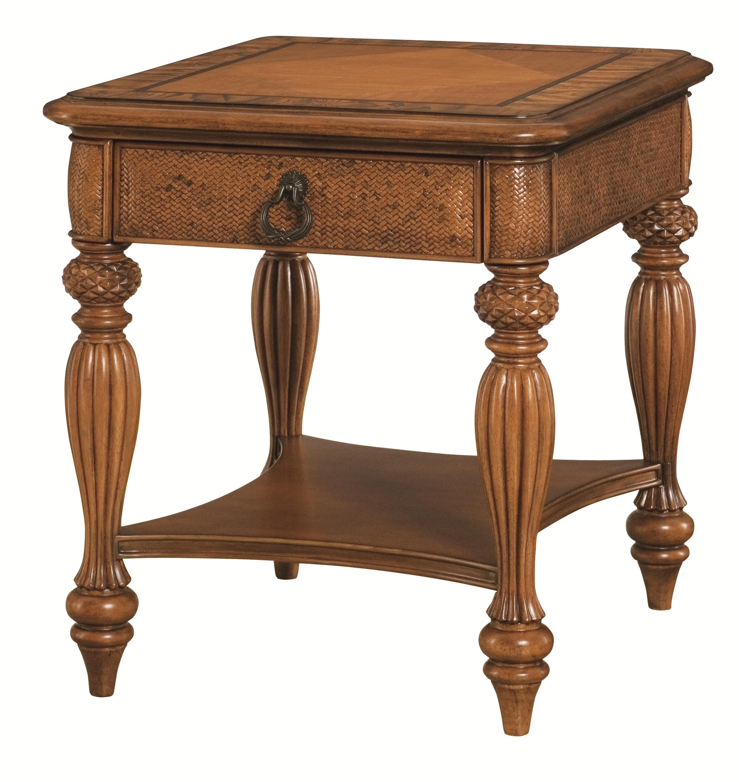 American Drew Grand Isle Rectangular End Table          - Item Number: 079-915