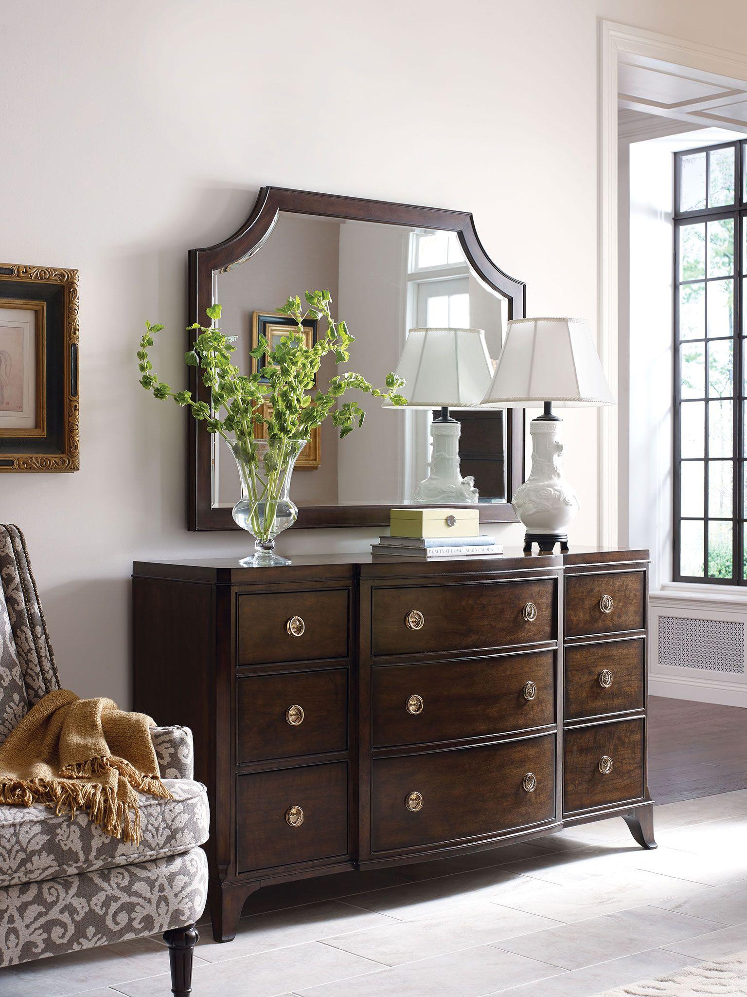 American Drew Grantham Hall 9 Drawer Dresser With Drop