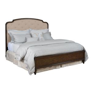 Queen Panel Upholstered Bed