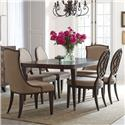 American Drew Grantham Hall 7 Piece Table and Chair Set - Item Number: 512-760+2x622+4x636