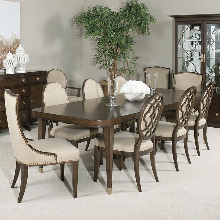 American Drew Grantham Hall 9 Piece Table and Chair Set - Item Number: 512-760+2x622+6x636