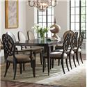 American Drew Grantham Hall 9 Piece Table and Chair Set - Item Number: 512-760+2x637+6x636