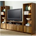 American Drew Grove Point Wall Unit with 6 Doors and 9 Shelves - 314-585+2x580
