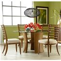 American Drew Grove Point Round Table and Side Chair Set - 314-701+801+4x636