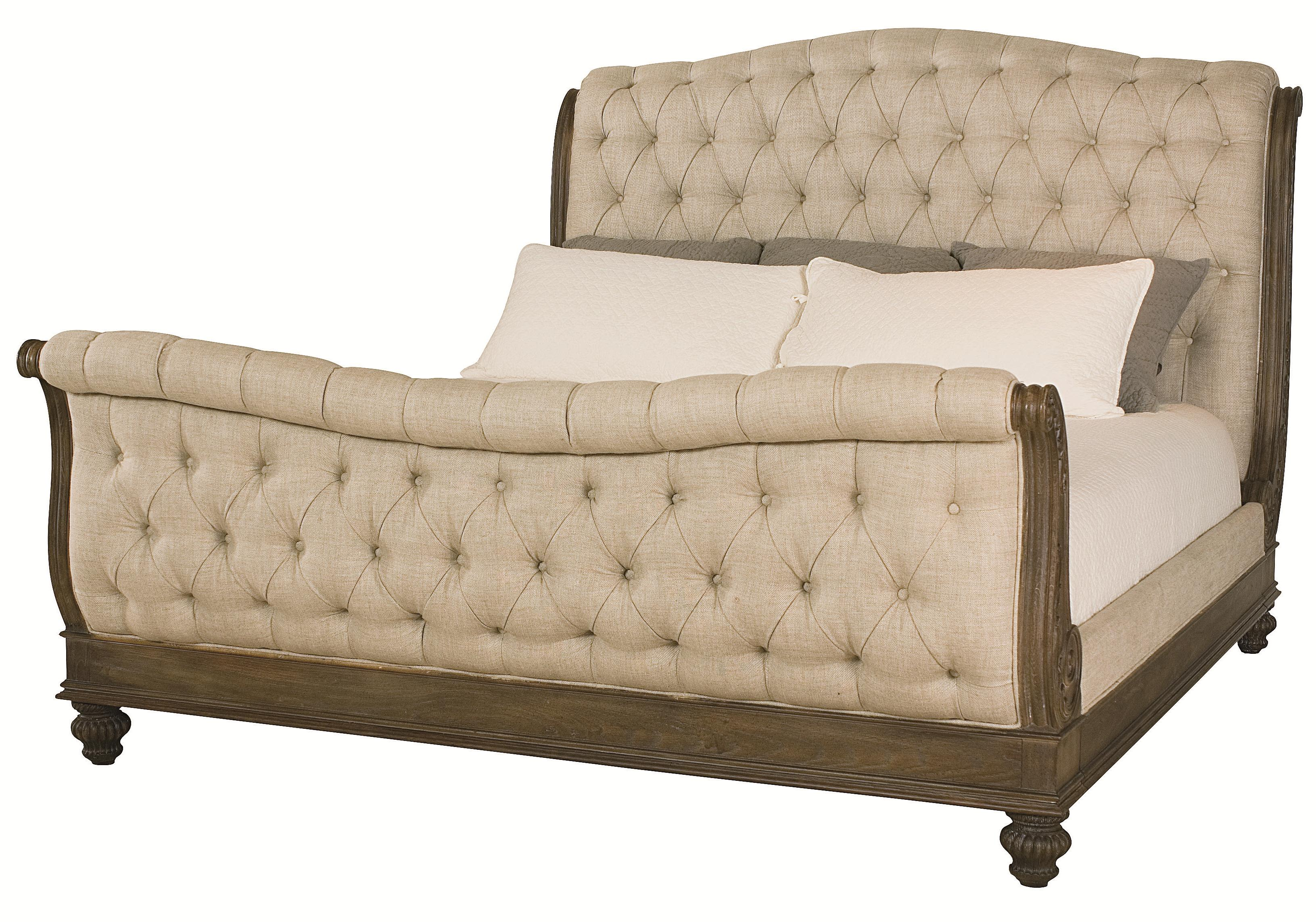 American Drew Jessica McClintock Home - The Boutique Collection Queen Sleigh Bed - Item Number: 217-304BR