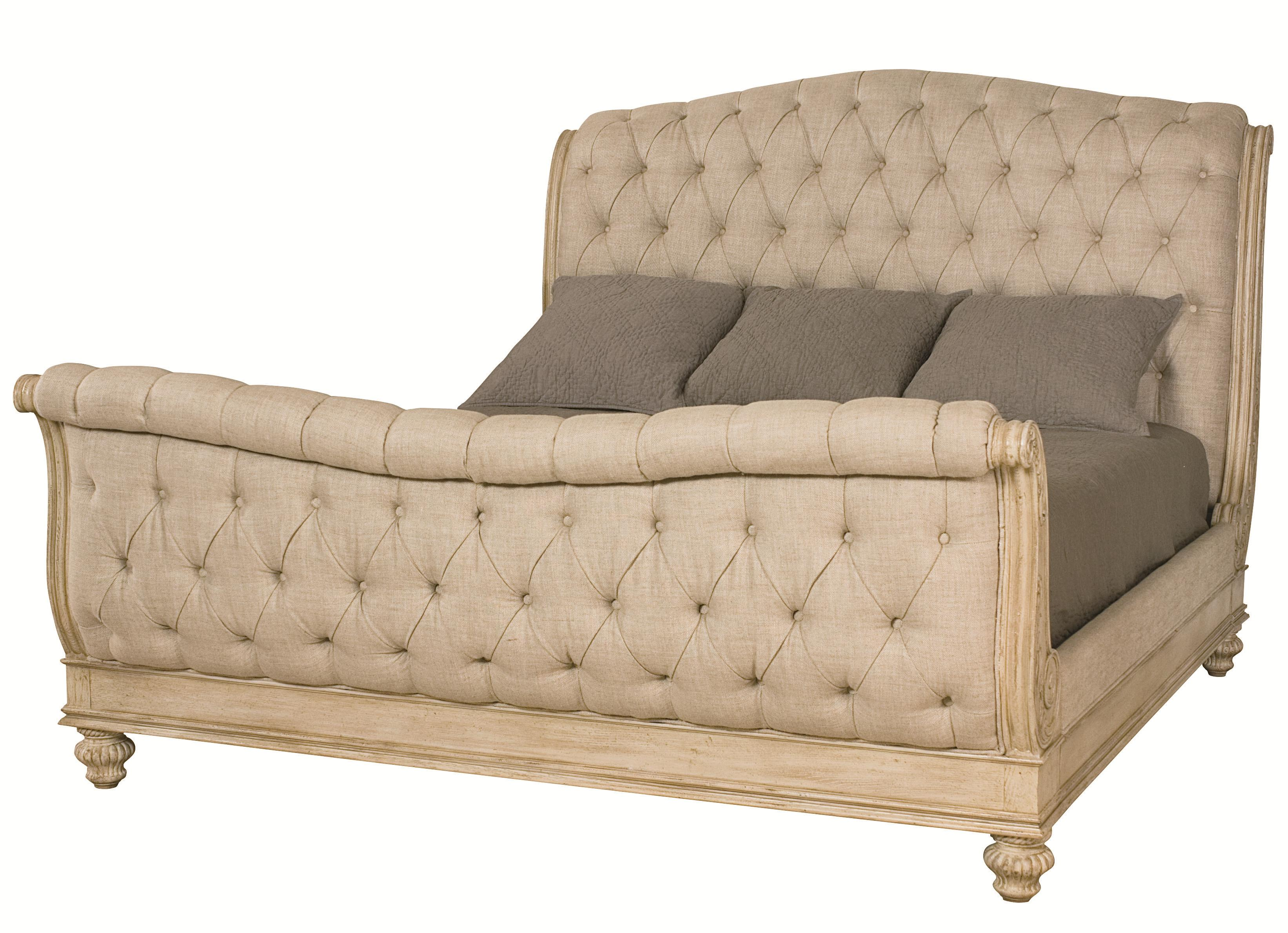 American Drew Jessica McClintock Home - The Boutique Collection King Sleigh Bed - Item Number: 217-306WR