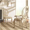 American Drew Jessica McClintock Home - The Boutique Collection Splat Oval Back Side Chair with Scroll Legs  - 217-622W - Shown with Splat Back Arm Chair