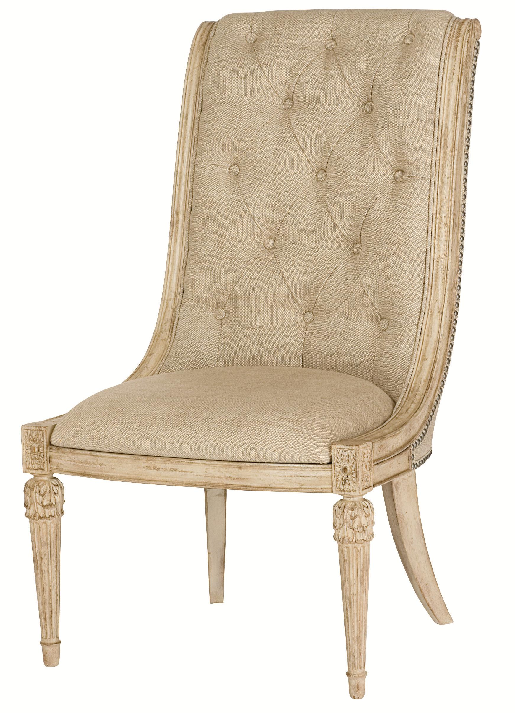 American Drew Jessica McClintock Home - The Boutique Collection Upholstered Side Chair - Item Number: 217-636W