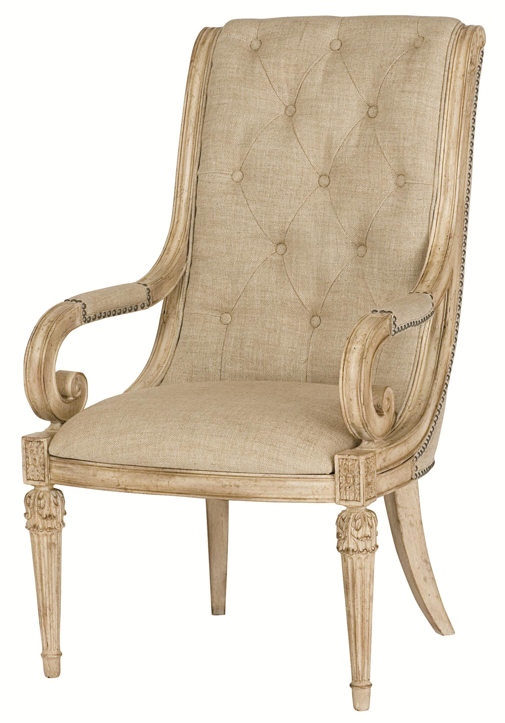 American Drew Jessica McClintock Home - The Boutique Collection Upholstered Arm Chair - Item Number: 217-637W