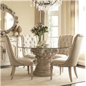 American Drew Jessica McClintock Home - The Boutique Collection 5 Piece Dining Table Set - Item Number: 217-702R+4x636W