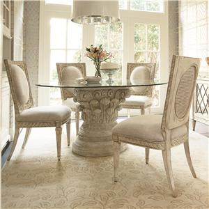 American Drew Jessica McClintock Home - The Boutique Collection 5 Piece Dining Table Set