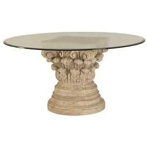 American Drew Jessica McClintock Home - The Boutique Collection Glass Top Round Dining Table