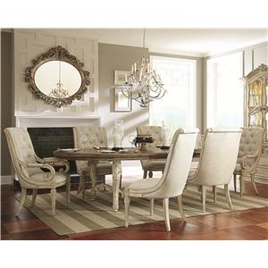 Living Trends Jessica McClintock Home - The Boutique Collection 7 Piece Dining Table Set