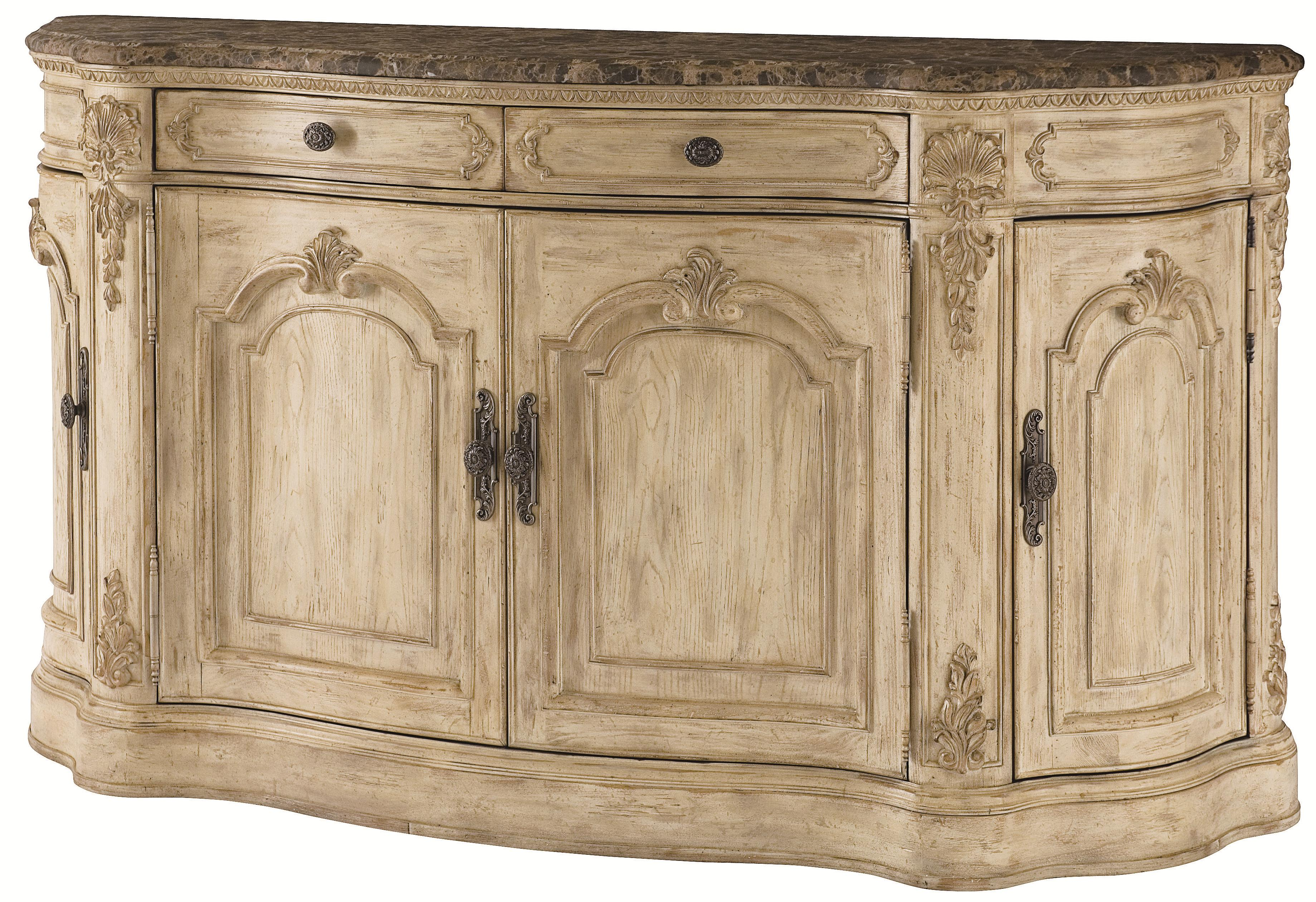 American Drew Jessica McClintock Home - The Boutique Collection Buffet with Marble Top - Item Number: 217-857W