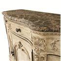 American Drew Jessica McClintock Home - The Boutique Collection Buffet with Marble Top - Detail of Serpentine Shaped Front