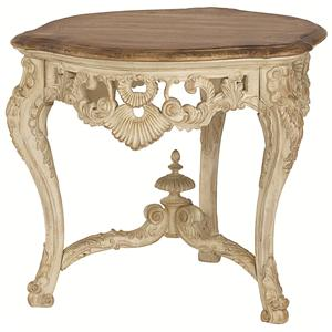 American Drew Jessica McClintock Home - The Boutique Collection Round Carved End Table