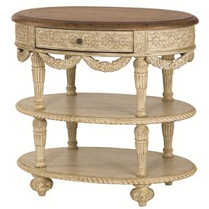 American Drew Jessica McClintock Home - The Boutique Collection Oval Tiered Accent Table