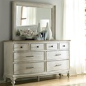 American Drew Litchfield Weymouth Dresser Mirror Set - Item Number: 750-130+040