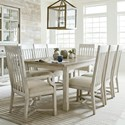 American Drew Litchfield 9 Piece Table & Chair Set - Item Number: 750-744+6x636+2x637