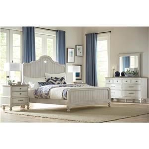 King Bed, Nightstand, Dresser and Mirror