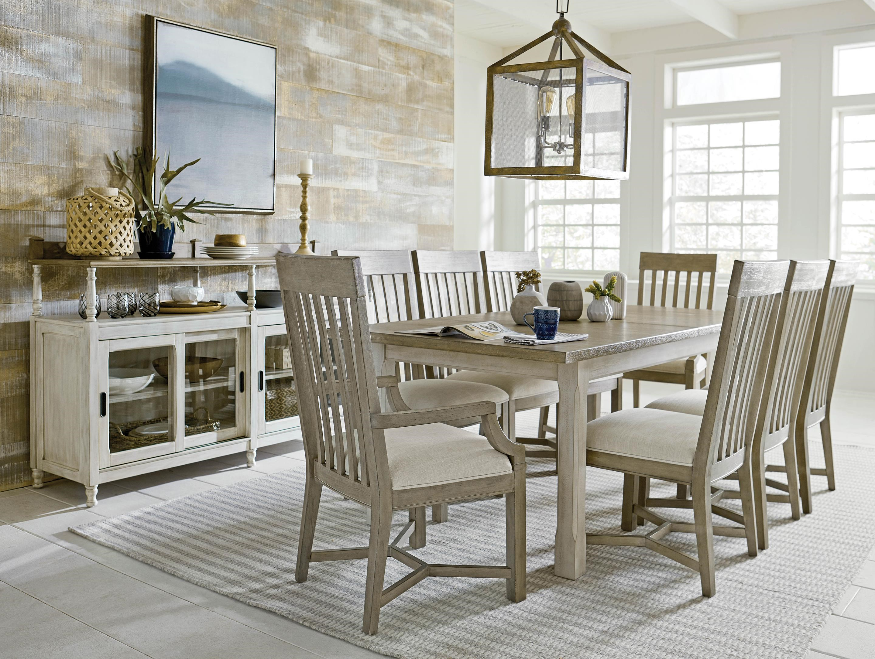 Litchfield Table and Four Slat Back Chair by American Drew at Johnny Janosik