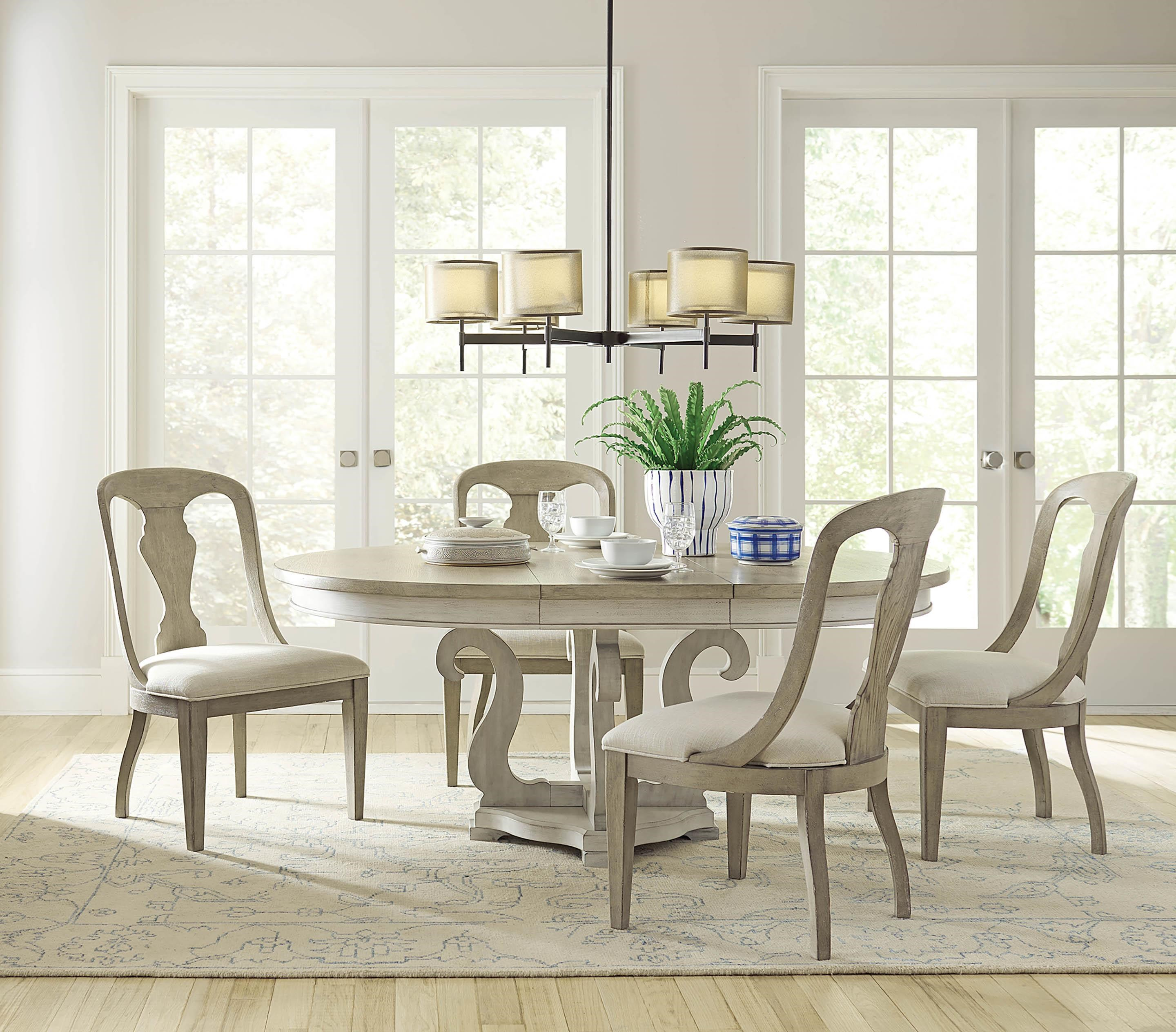 Litchfield Table and Four Split Back Chairs by American Drew at Johnny Janosik