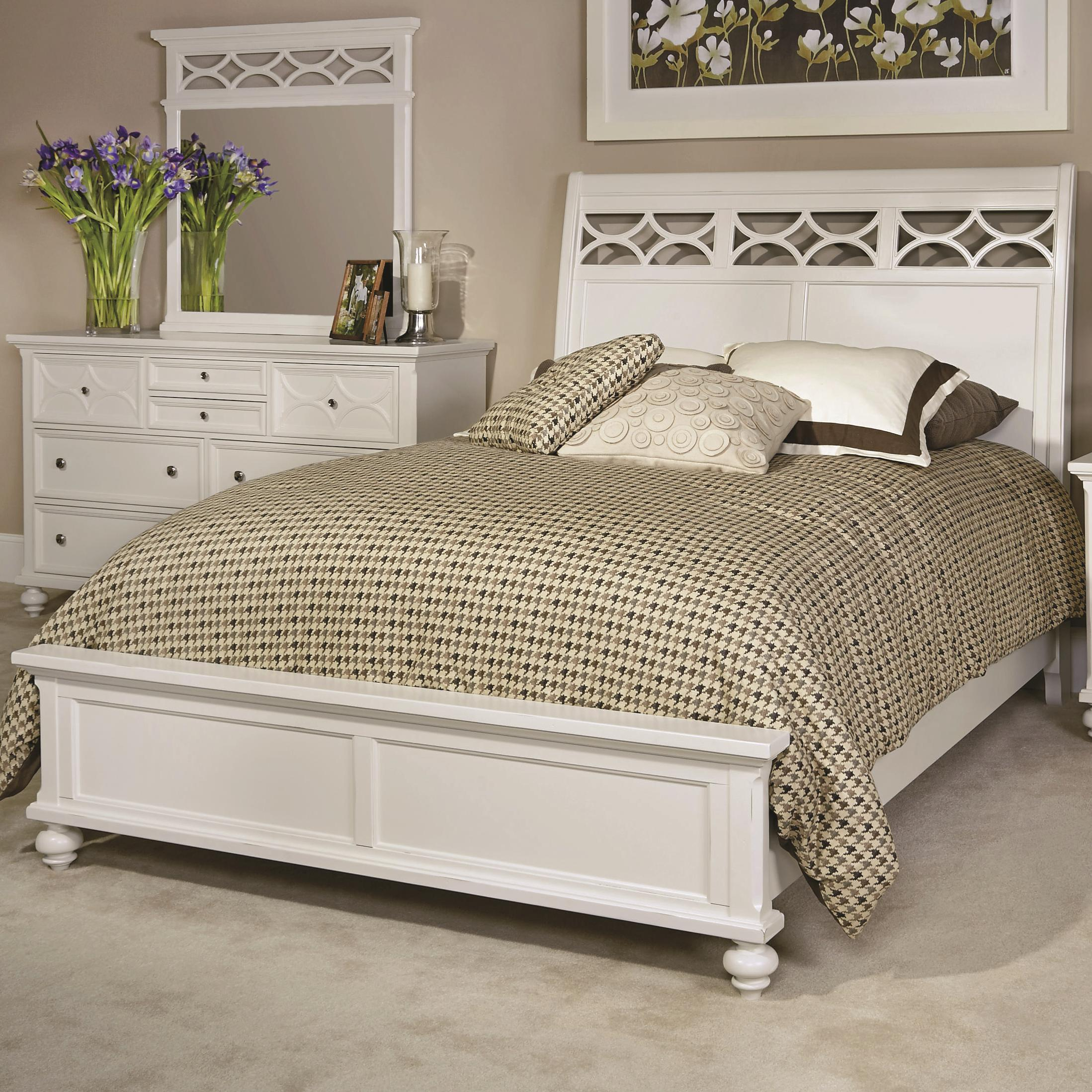 American Drew Lynn Haven Queen Sleigh Bed                        - Item Number: 416-304R