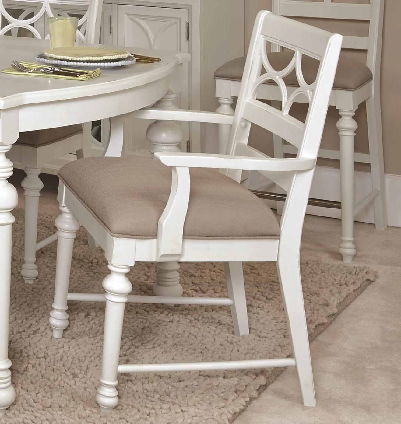 American Drew Lynn Haven Fret Work Arm Chair              - Item Number: 416-637