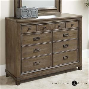 American Drew Park Studio 9-Drawer Dresser