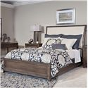 American Drew Park Studio King Sleigh Bed with Upholstered Headboard - Bed Shown May Not Represent Size Indicated