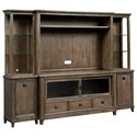 American Drew Park Studio Wall Entertainment Unit - Item Number: 488-580+581+582+583+585+586