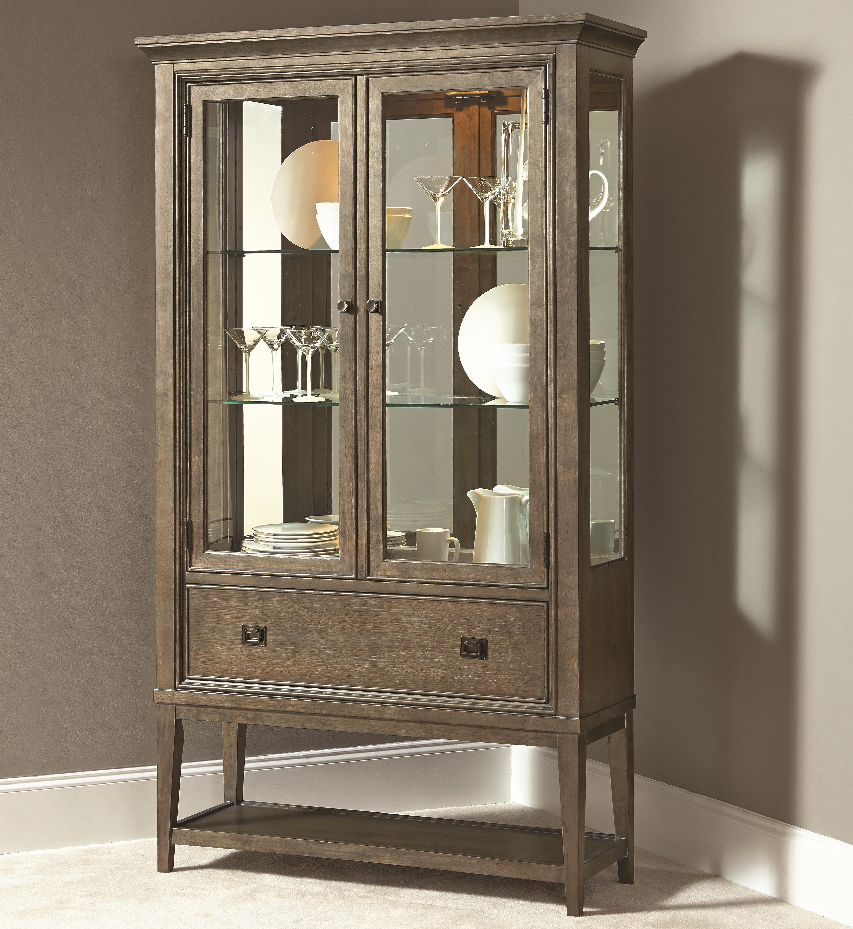 American Drew Park Studio Curio China Cabinet - Item Number: 488-855
