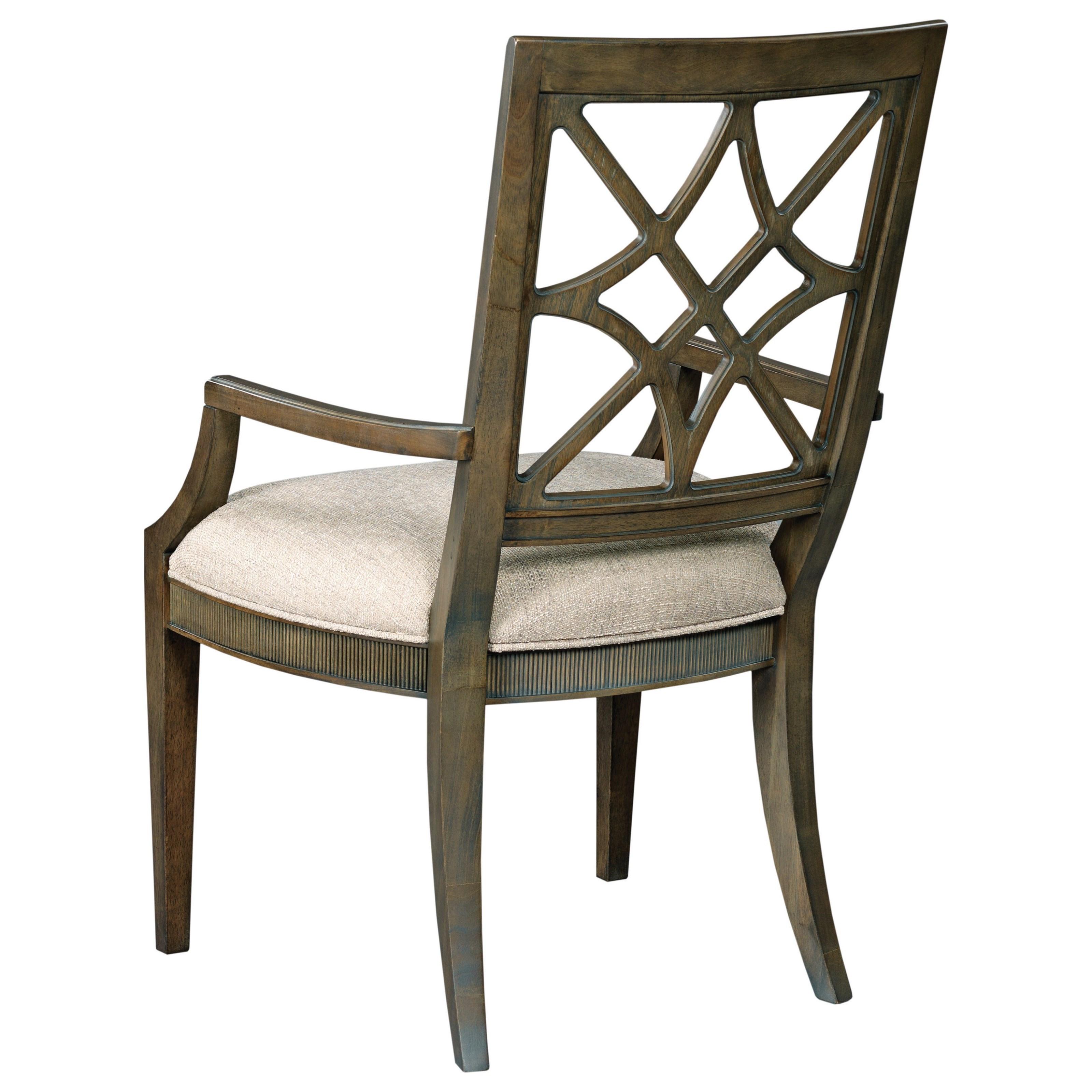 American Drew Savona Geniene Arm Chair Jacksonville Furniture Mart Dining Arm Chairs