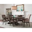 American Drew Savona Seven Piece Table & Chair Set - Item Number: 654-744R+2x637+4x636