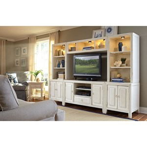 American Drew Siesta Sands  Entertainment Wall Console