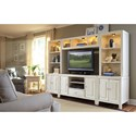 American Drew Siesta Sands  Entertainment Wall Console - Item Number: 508-593+2x591+2x592+594