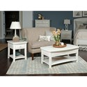 American Drew Siesta Sands  End Table with One Drawer