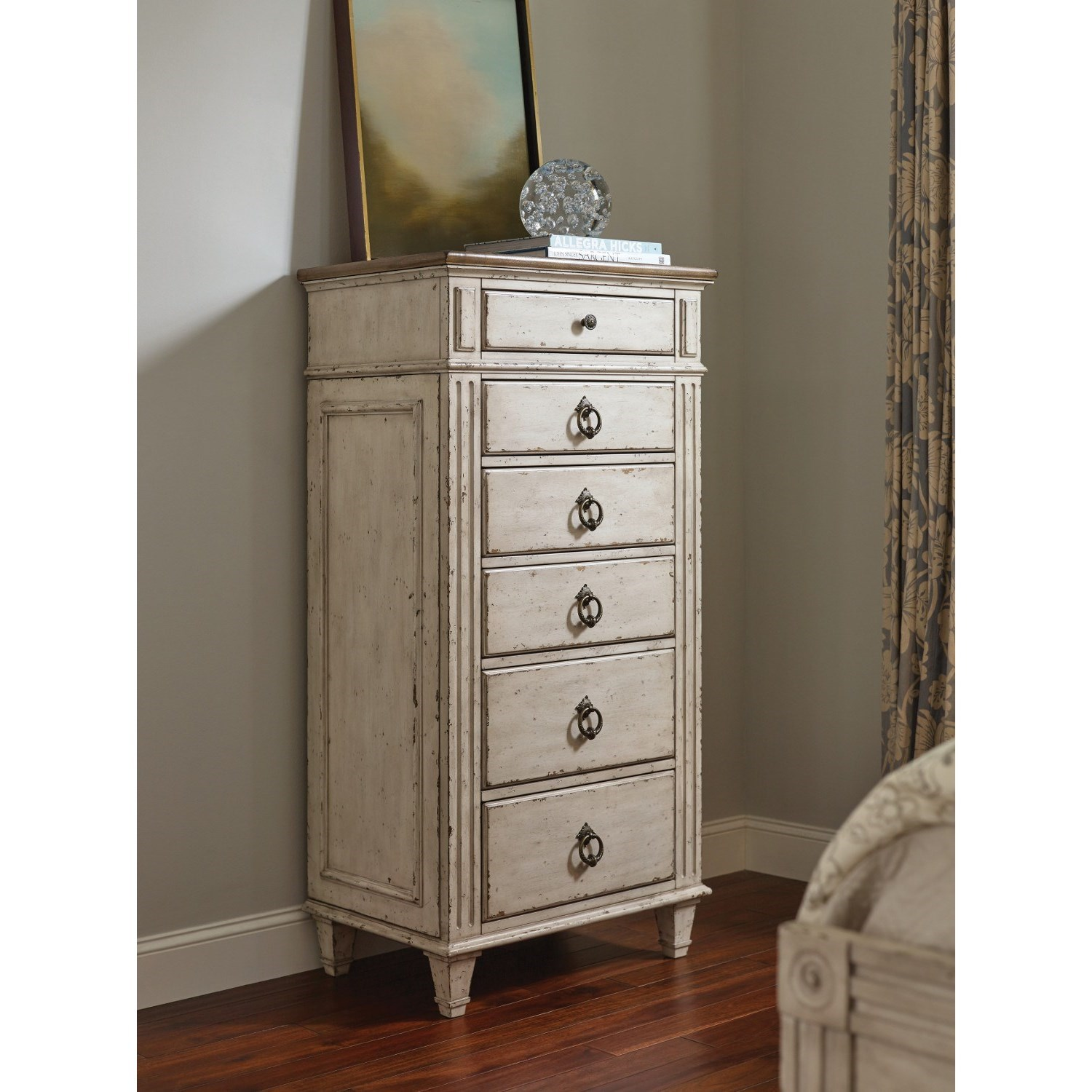 American Furniture Close To Me: American Drew SOUTHBURY Lingerie Chest With 6 Soft Close