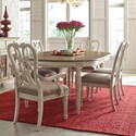 American Drew SOUTHBURY  7 Piece Table & Chair Set - Item Number: 513-701+4x513-636+2x513-637
