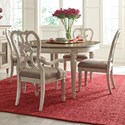 Morris Home South Gate South Gate 5 Piece Table & Chair Set - Item Number: 513-701+2x513-636+2x513-637