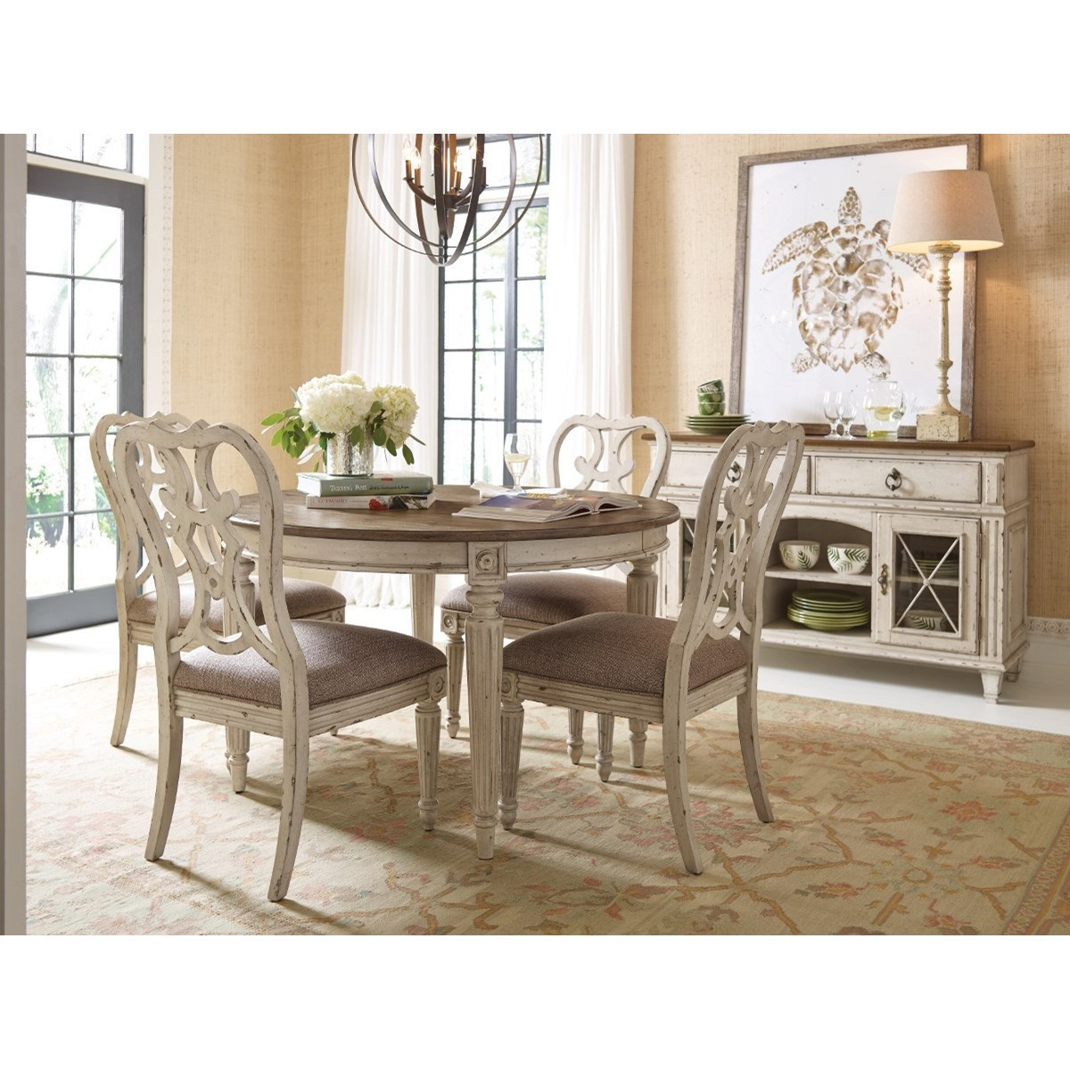 American Drew Dining Room Furniture: American Drew SOUTHBURY Round Dining Table With Leaves