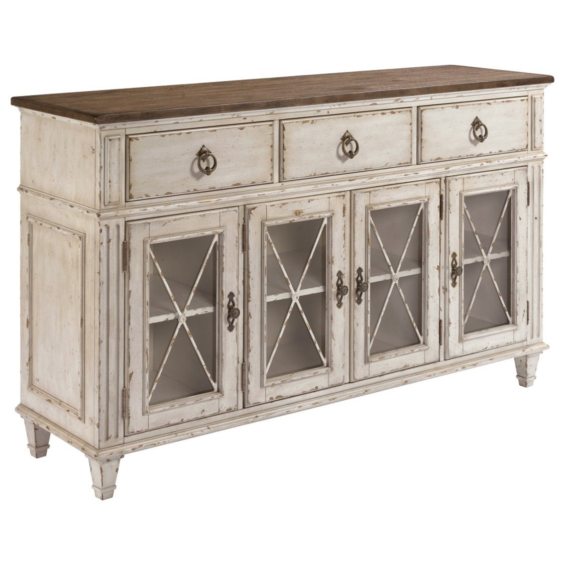 American Drew SOUTHBURY  Sideboard With Adjustable Shelves - Item Number: 513-857