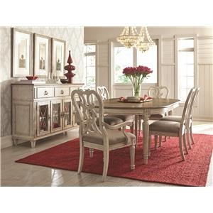 5 Piece Dining Set Includes Table and 4 Side Chairs