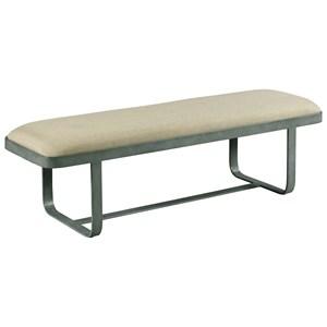 Living Trends Modern Synergy Cast Upholstered Bench