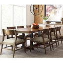 American Drew Modern Synergy Rectangular Dining Table and Chair Set - Item Number: 700-760R+2x223+6x222