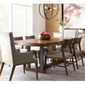 American Drew Modern Synergy Rectangular Dining Table and Chair Set - Item Number: 700-760R+2x637+4x622