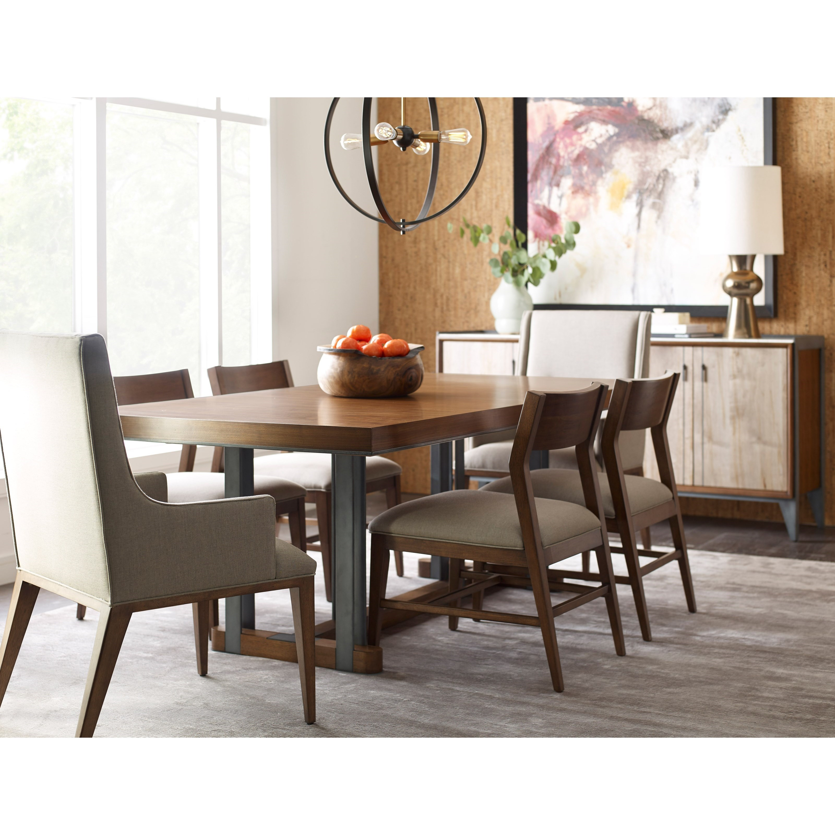 Rectangular Dining Room Tables With Leaves: American Drew Modern Synergy Curator Rectangular Dining